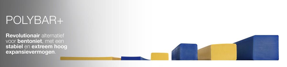Polybar+ zwelbanden zijn een revolutionair alternatief voor bentoniet dankzij hun erg hoog expansievermogen