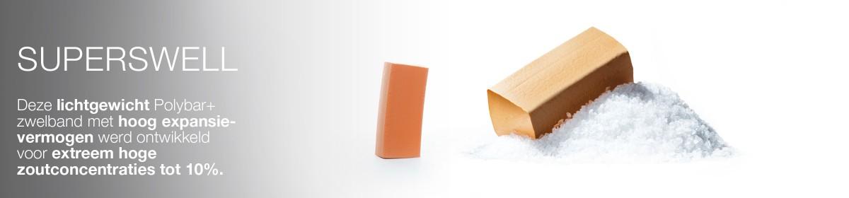 Superswell is een product van BeSealed, de innovator in rubber compounding en afdichtingssystemen